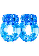 Stay Hard Vibrating Cock Rings (2 Pack) - Blue