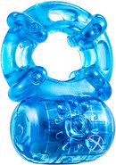Stay Hard Vibrating Cock Ring - Blue